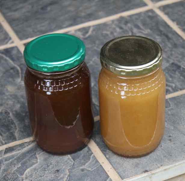 Creamed vs runny honey.
