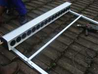 Solar tubes 3 is the final assembly of the frame for supporting your passive solar water heater.
