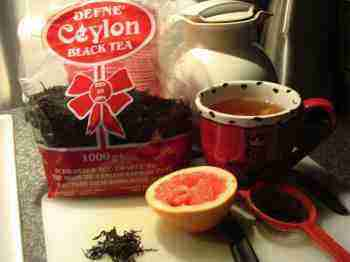 Black tea and fruit for Bernard
