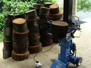 Commercial firewood splitter.