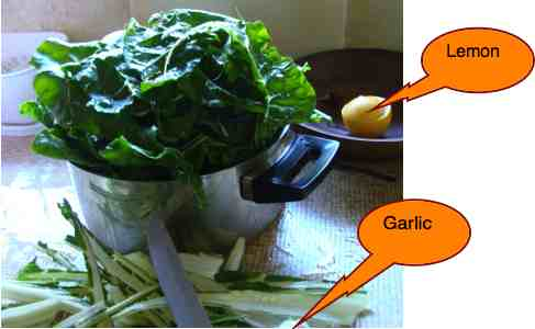 How to cook destalked spinach for magnesium.