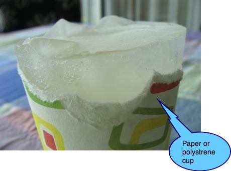 Ice cup treatment