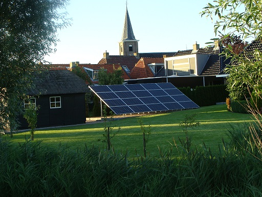 PV panels at ground level