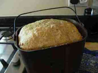 Panera bread in the baking pan