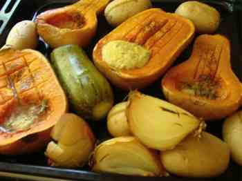 Quick roasted butternut squash
