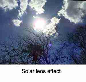 Solar lens effect