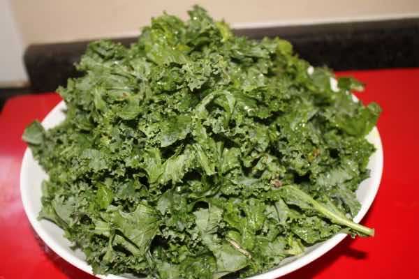 Swiss chard and kale for Indian Saag