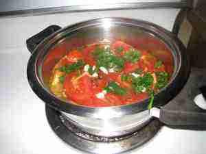 Tomato relish garlic and parsley.