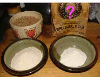 Whole grain wheat flour can only be had if you grind it yourself; using solar power from your own generator it's a great example of the synergy of green living.